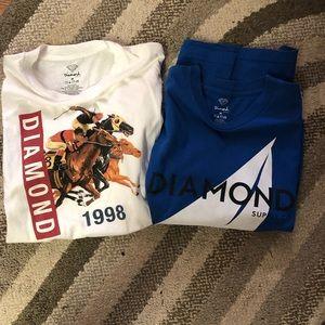 Men's Diamond T Shirts size Medium
